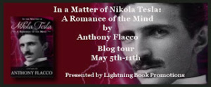 Promoting the blog tour for In the Matter of Nikola Tesla
