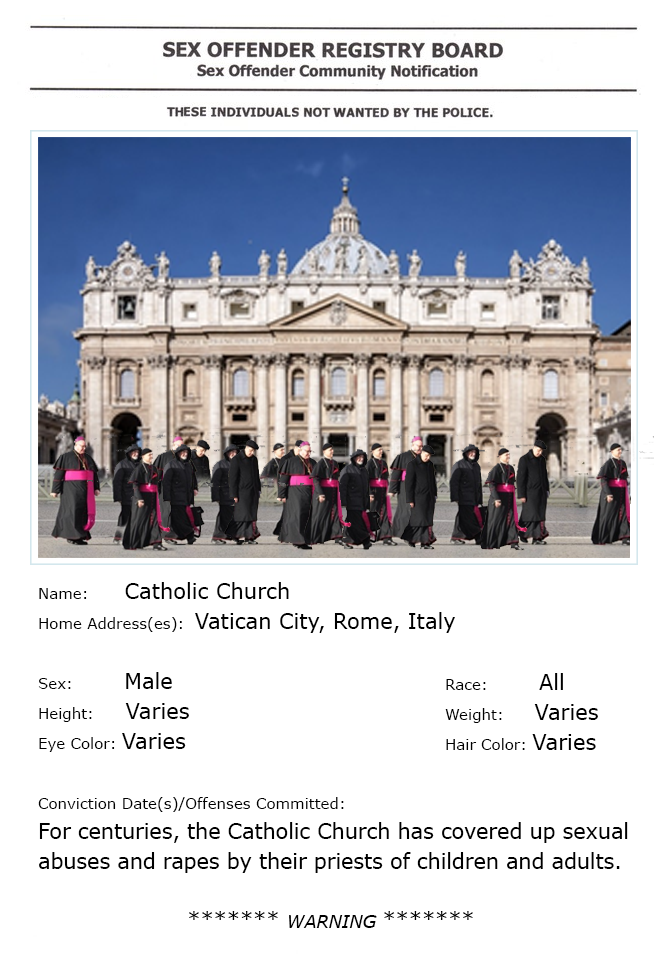 A derivative photo combining four priests walking with the Vatican in the background