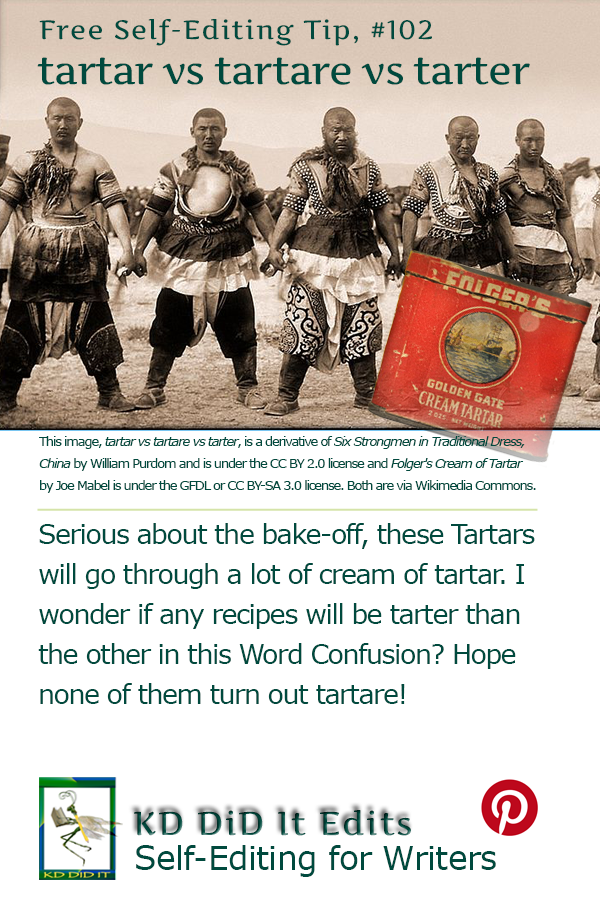 Pinterest pin for Tartar vs Tartare vs Tarter