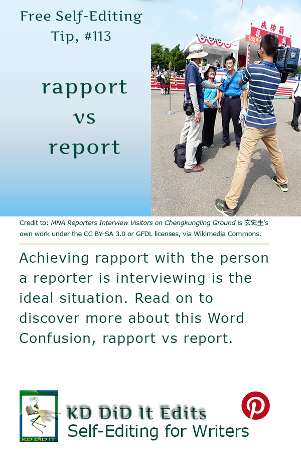 Pinterest pin for Rapport versus Report