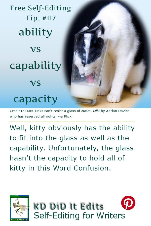 Pinterest pin for Ability vs Capability vs Capacity