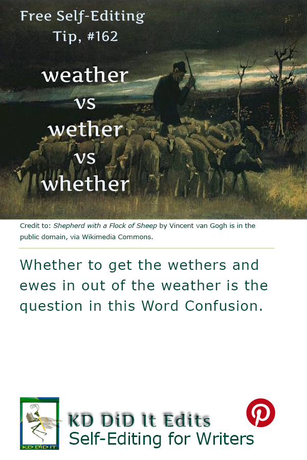Word Confusion: Weather vs Wether vs Whether