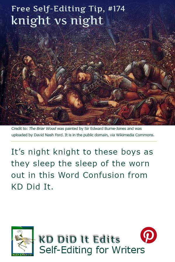 Pinterest pin for Knight versus Night