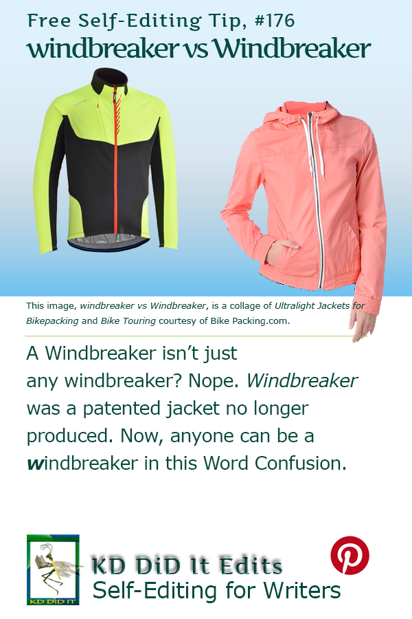 Pinterest pin for windbreaker versus Windbreaker