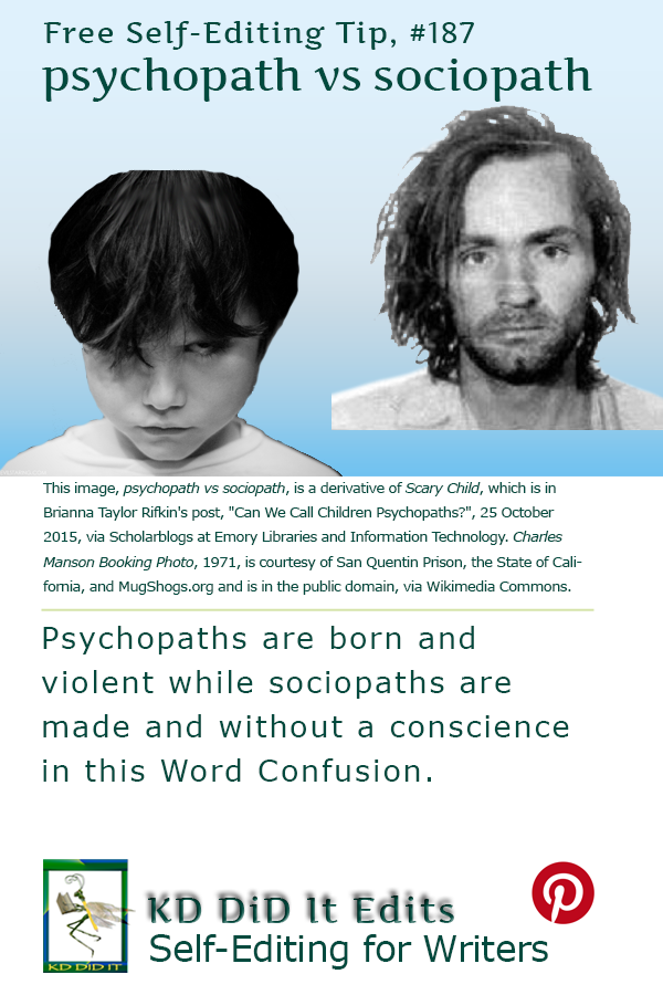 Pinterest pin for Psychopath versus Sociopath