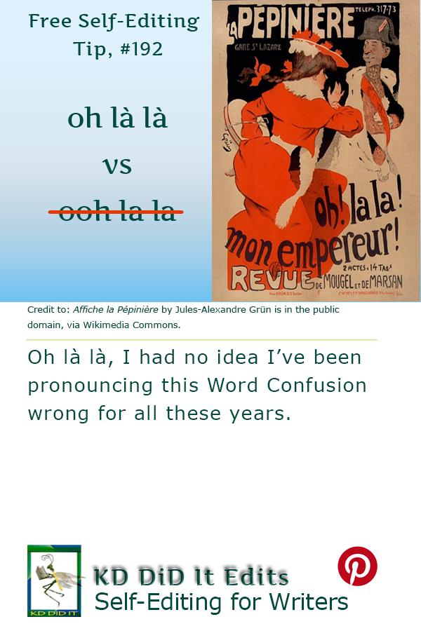 Pinterest pin for Oh la la vs Ooh la la
