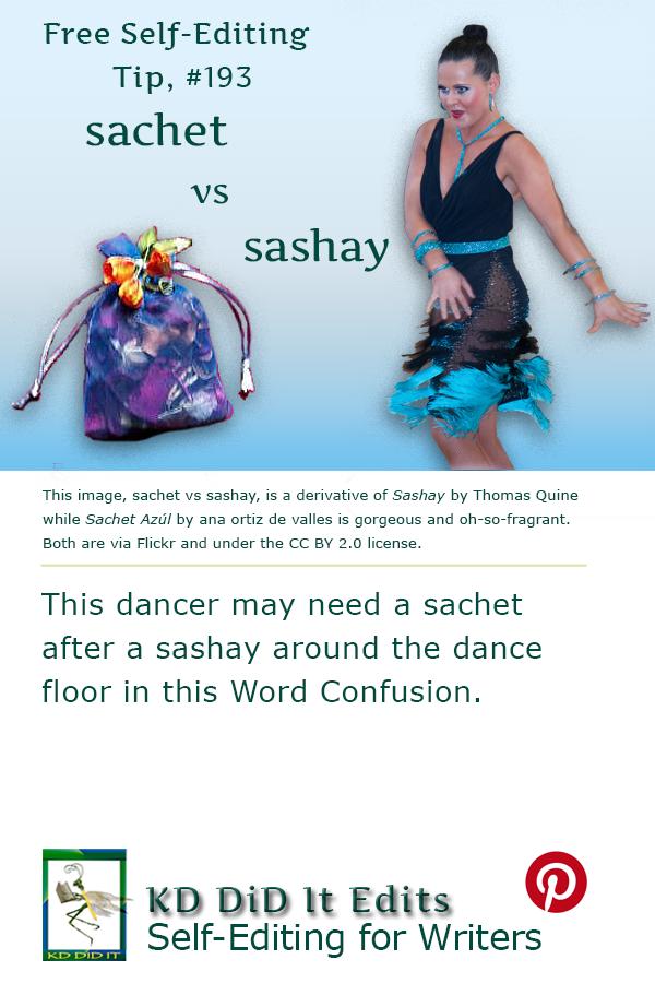 Pinterest pin for Sachet versus Sashay
