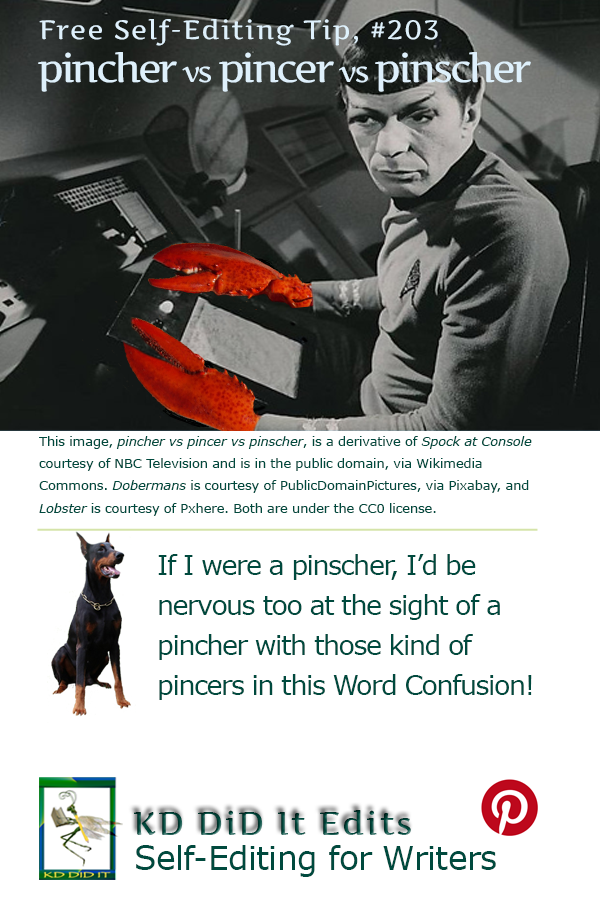 Pinterest pin for  Pincher vs Pincer vs Pinscher