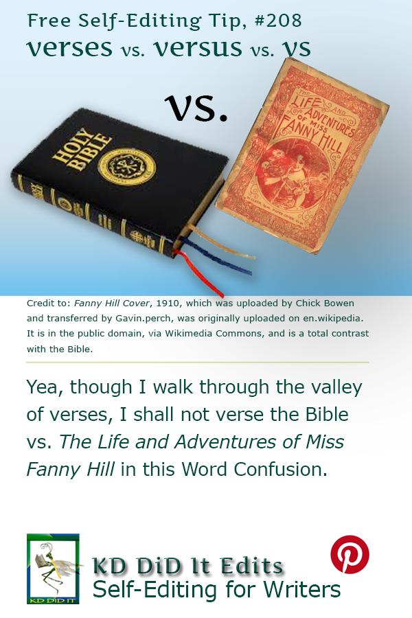 Word Confusion: Verses vs Versus vs Vs.