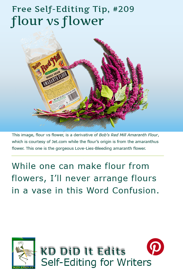 Pinterest pin for Flour versus Flower
