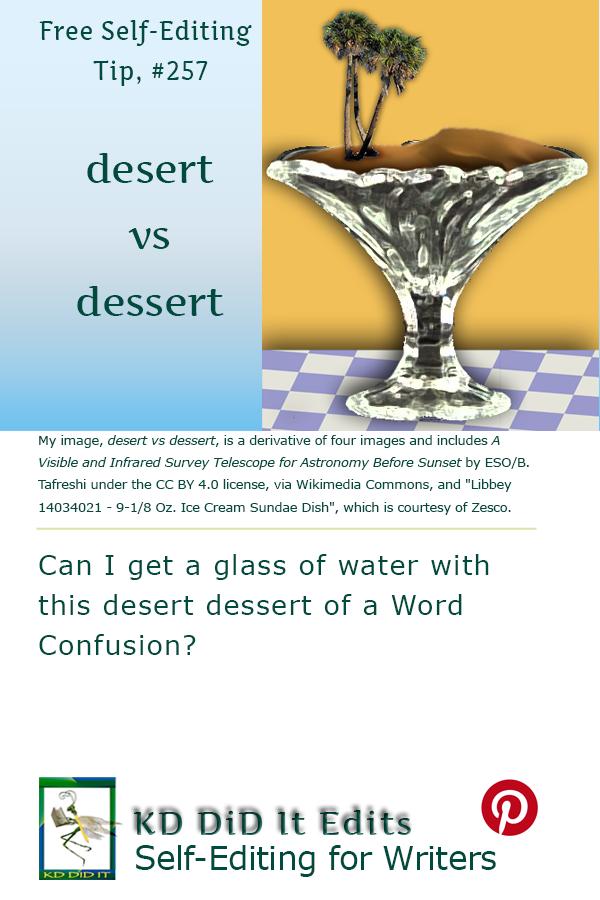 Pinterest pin for desert vs dessert