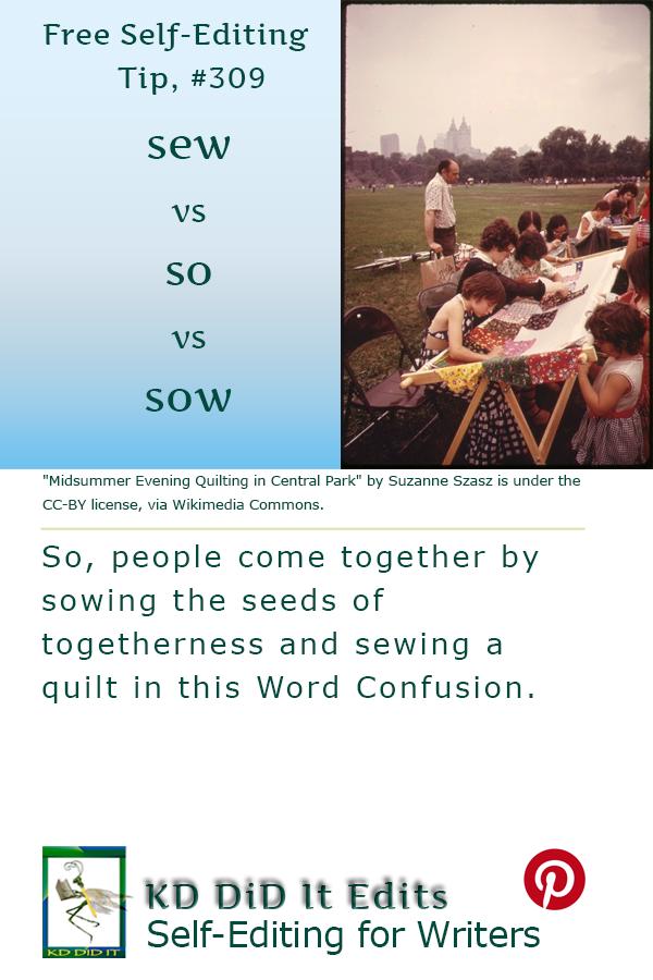 Pinterest pin for Sew vs So vs Sow
