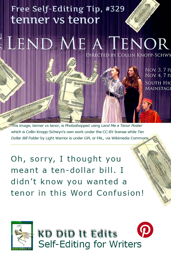 Pinterest pin for Tenner versus Tenor