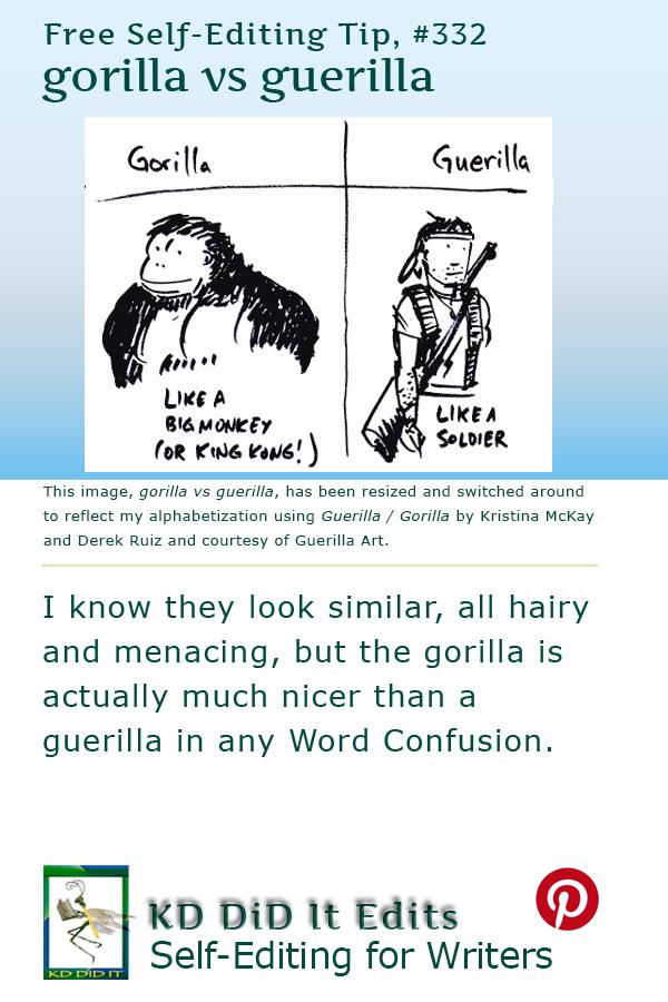 Pinterest pin for Gorilla versus Guerilla