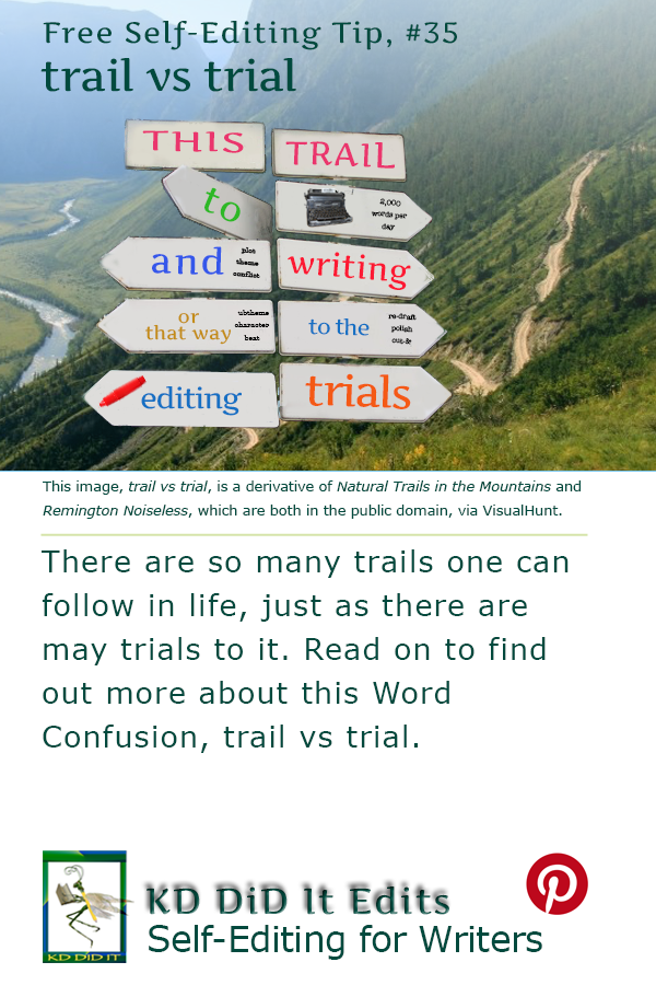 Pinterest pin for trail vs trial