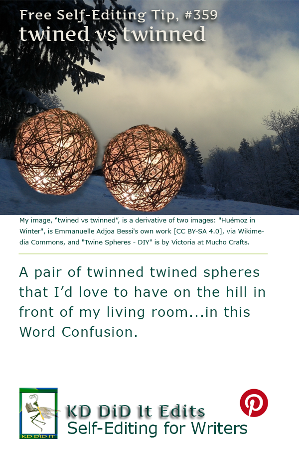 Pinterest pin for Twined versus Twinned