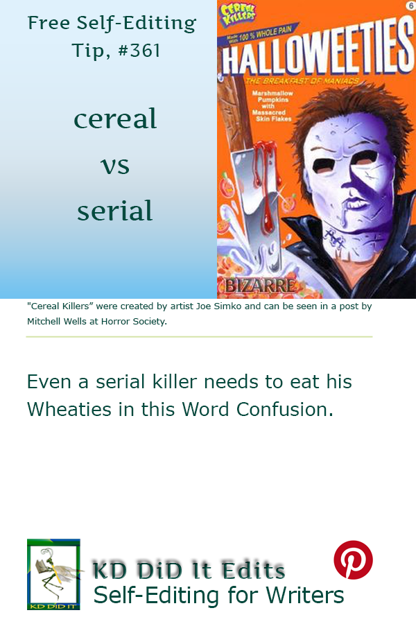 Pinterest pin for Cereal versus Serial
