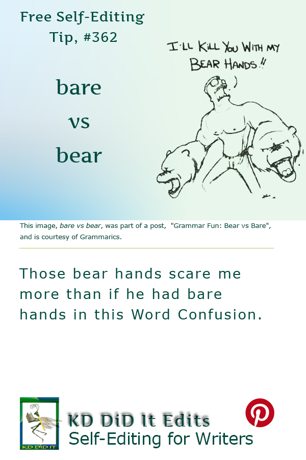 Pinterest pin for Bare versus Bear