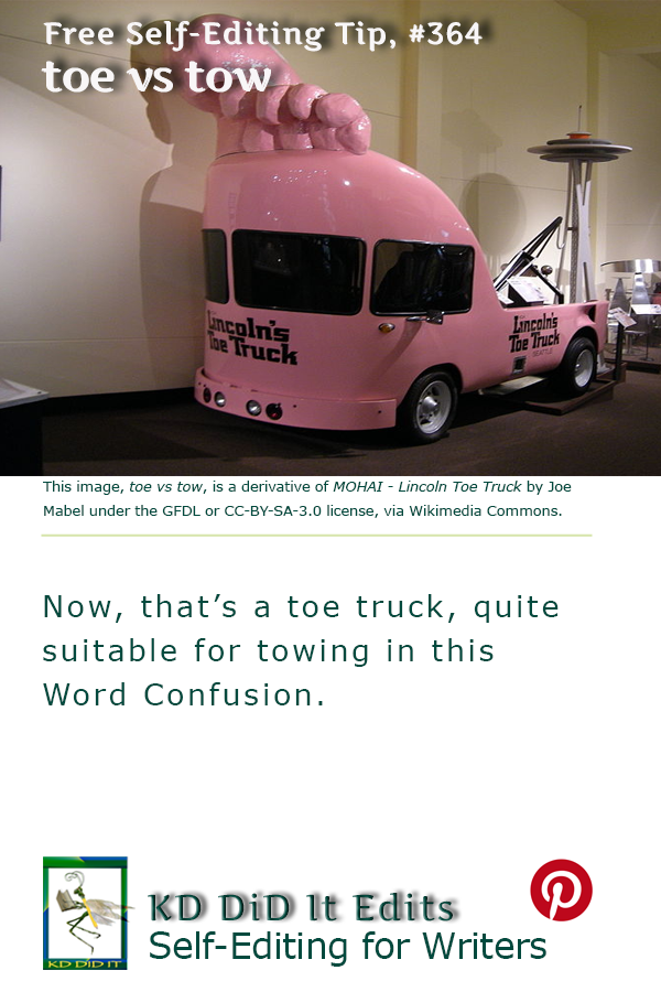 Pinterest pin for Toe versus Tow