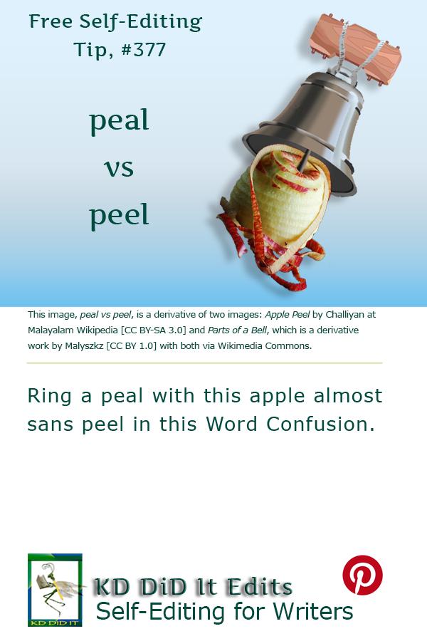 Pinterest pin for Peal versus Peel
