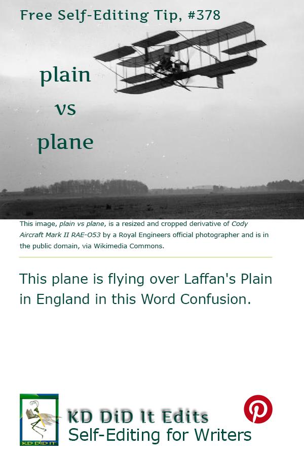 Pinterest pin for Plain versus Plane