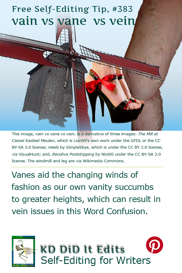 Pinterest pin for Vain v Vane v Vein