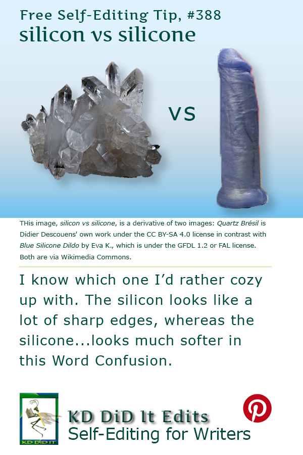 Pinterest pin for Silicon vs Silicone