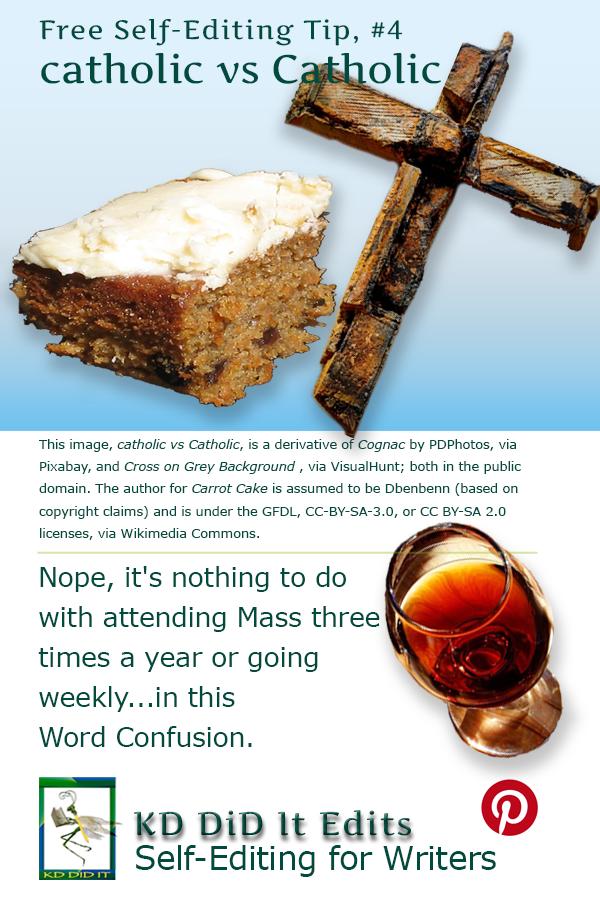 Pinterest pin for catholic versus Catholic