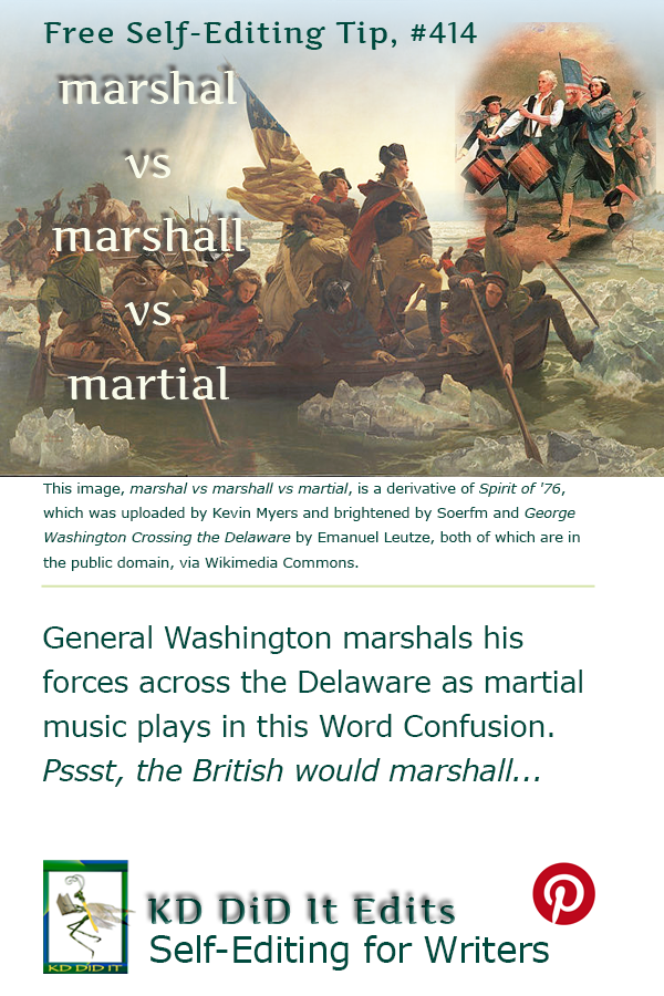 Pinterest pin for Marshal vs Marshall vs Martial