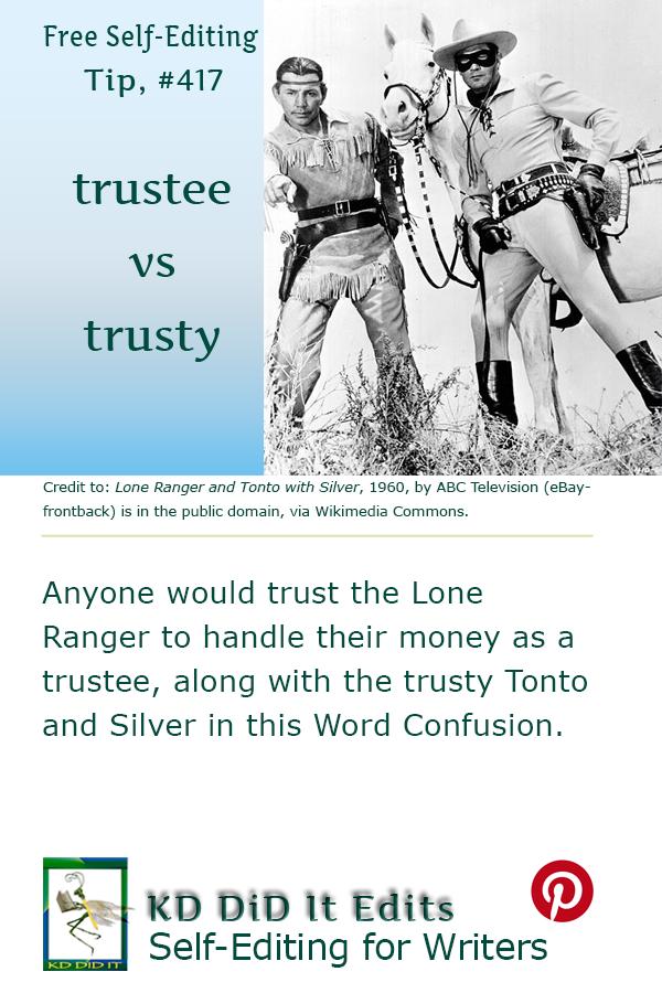 Pinterest pin for Trustee versus Trusty