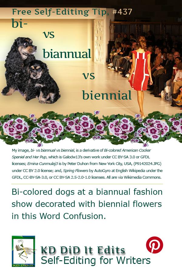 Pinterest pin for Bi- vs Biannual vs Biennial