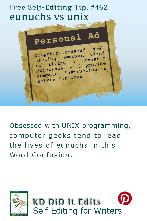 Pinterest pin for Eunuchs versus Unix