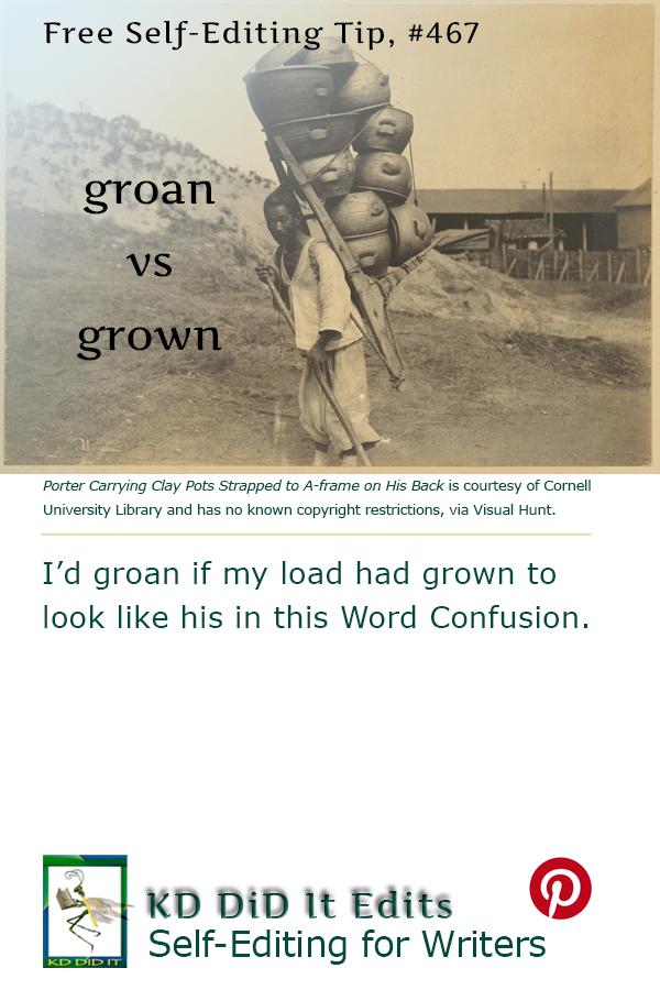 Pinterest pin for Groan versus Grown