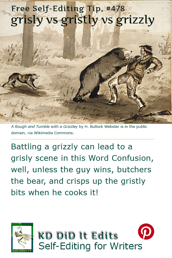 Pinterest pin for Grisly vs Gristly vs Grizzly