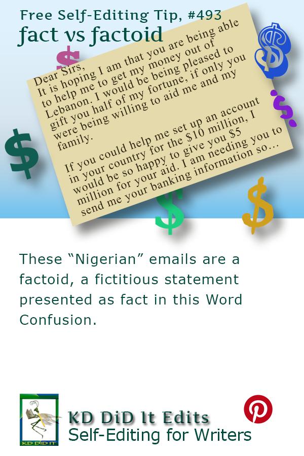 Pinterest pin for Fact versus Factoid