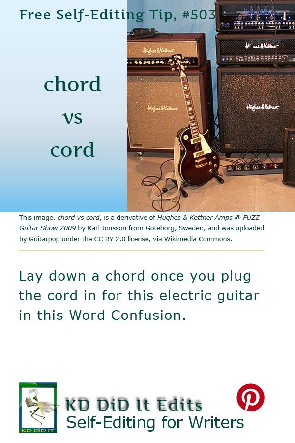 Pinterest pin for Chord versus Cord