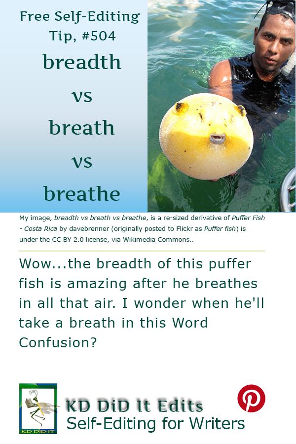 Pinterest pin for Breadth vs Breath vs Breathe