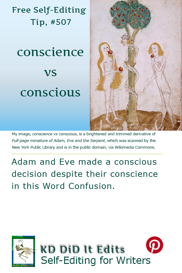 Pinterest pin for Conscience versus Conscious