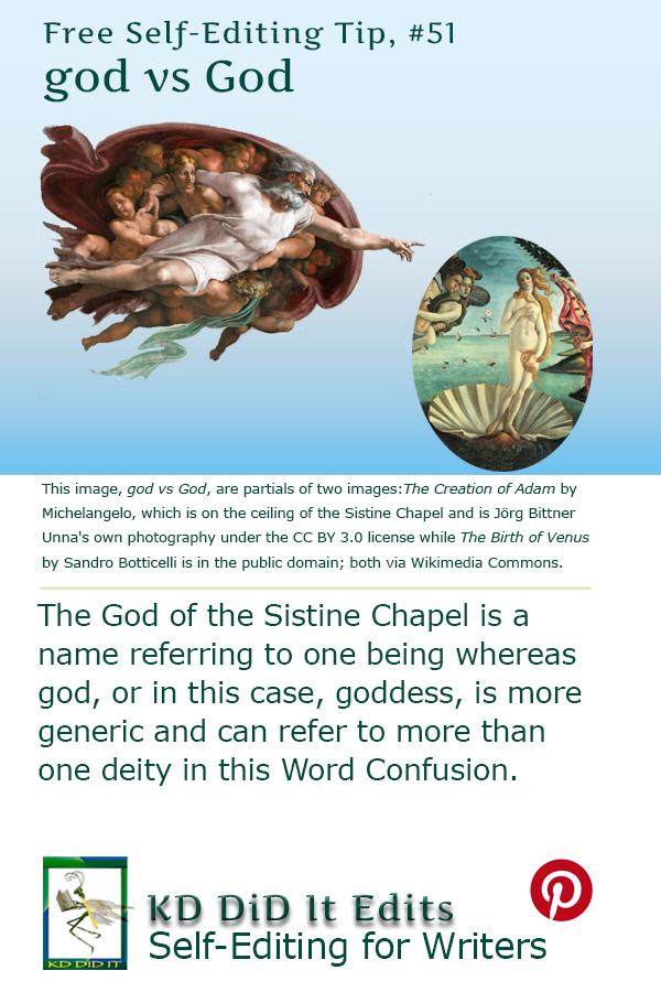 Pinterest pin for God versus god
