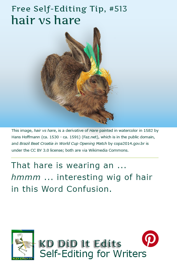 Word Confusion: Hair versus Hare