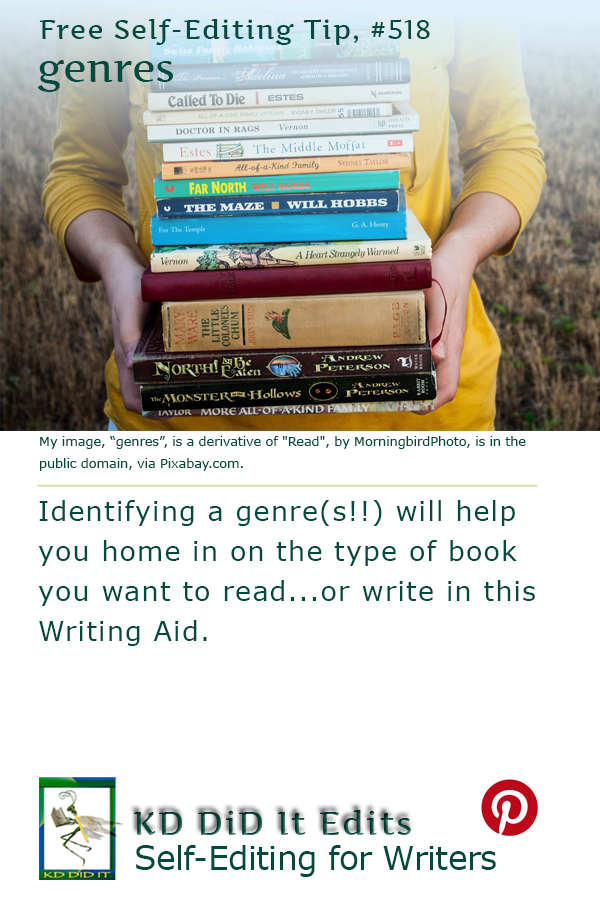 Pinterest pin for Writing & Reading Genres