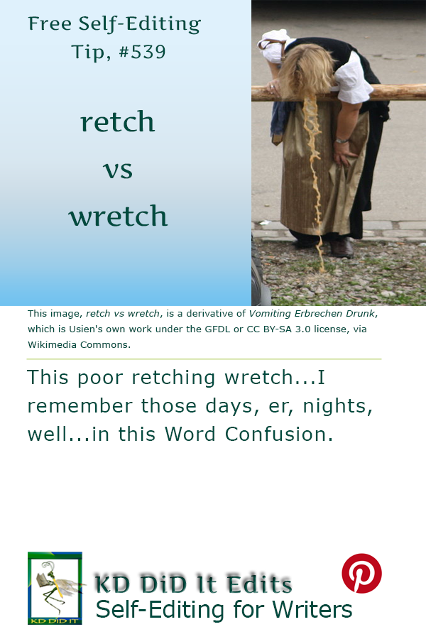 Word Confusion: Retch versus Wretch