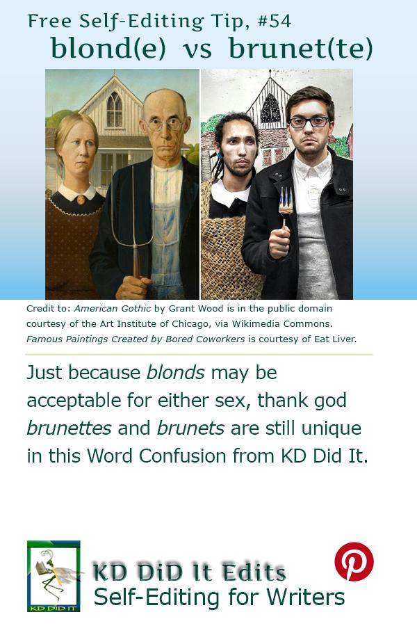 Pinterest pin for Blond(e)s, Brunet(te)s