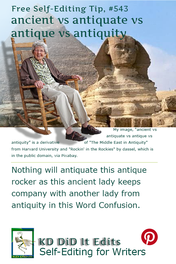 Word Confusion: Ancient vs Antiquate vs Antique vs Antiquity
