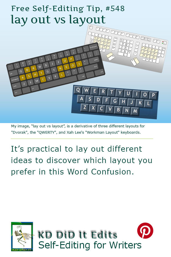 Word Confusion: Lay Out versus Layout