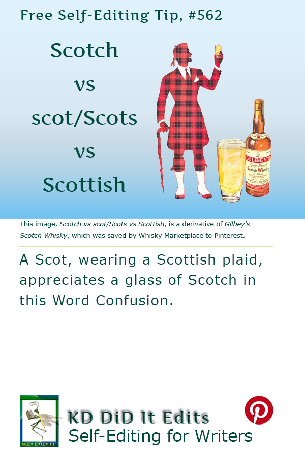 Pinterest pin for Scotch vs scot/Scots vs Scottish