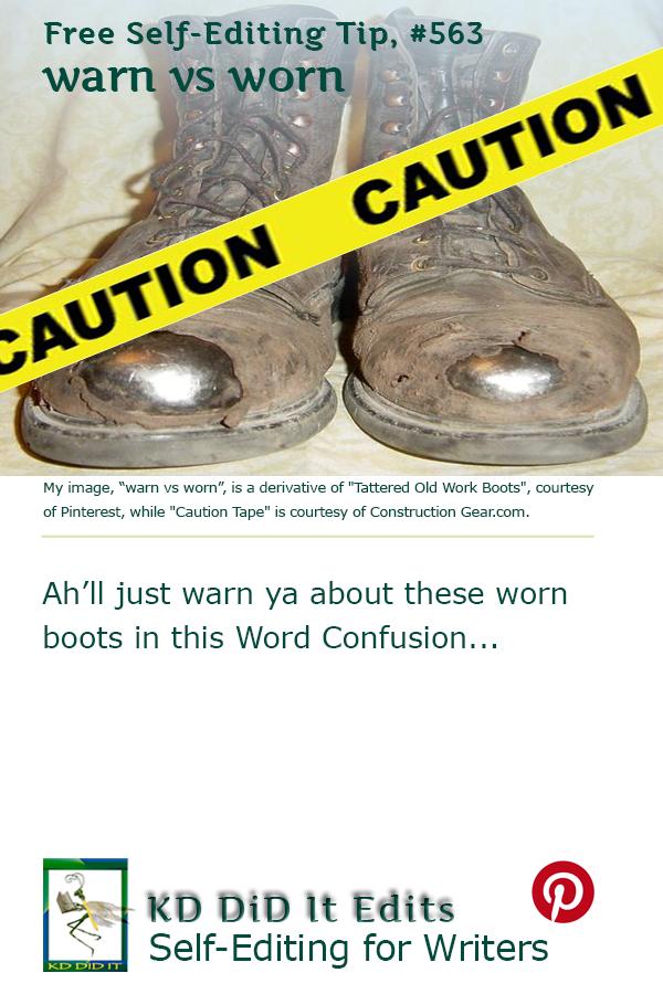 Word Confusion: Warn versus Worn