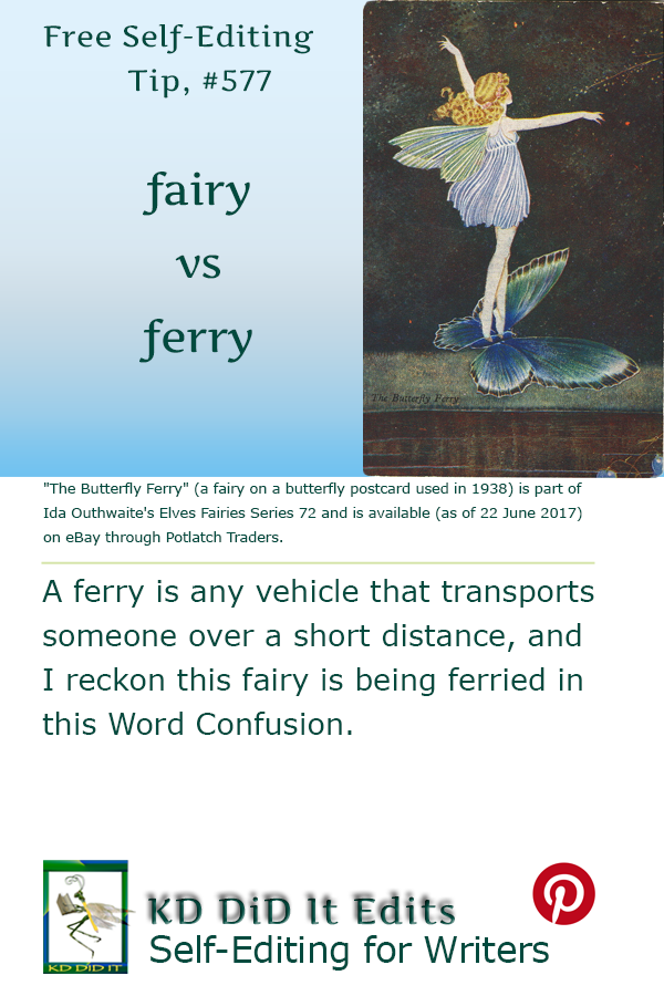 Pinterest pin for Fairy versus Ferry