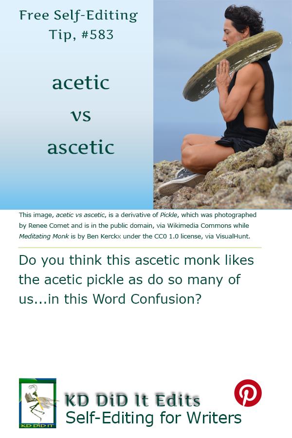 Pinterest pin for Acetic versus Ascetic