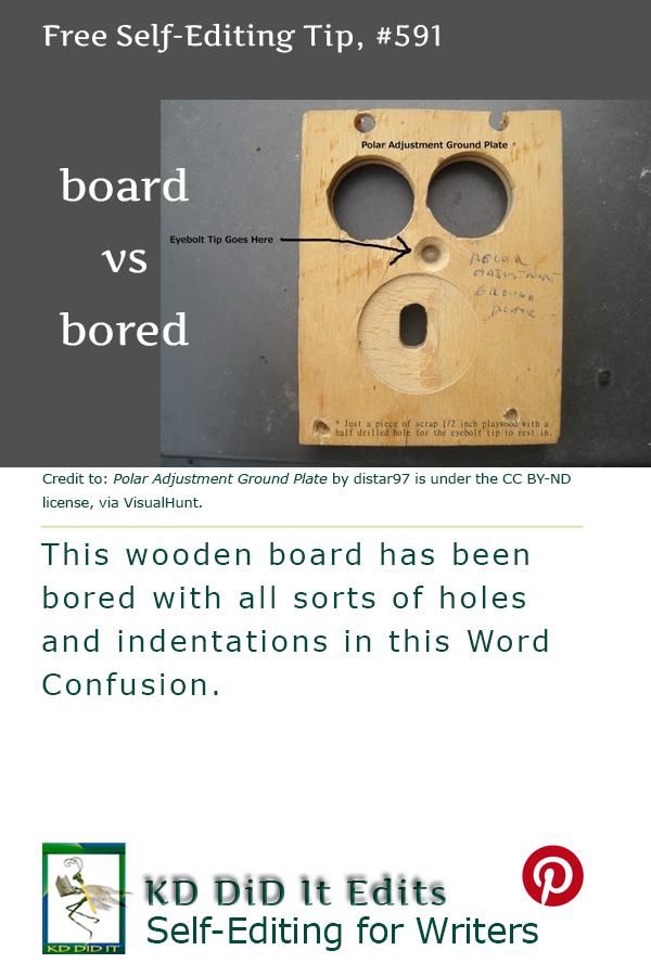 Word Confusion: Board versus Bored